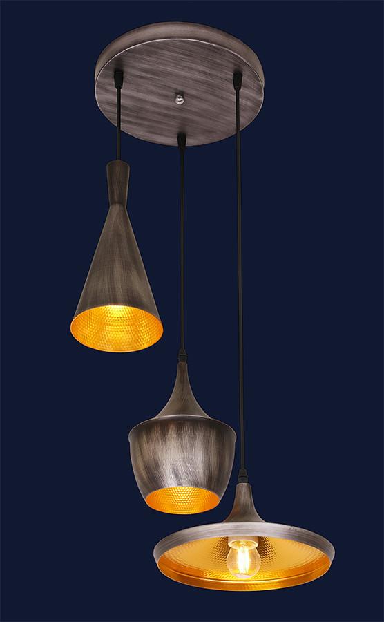 Подвесной светильник серого цвета 7546581-3 GRAY