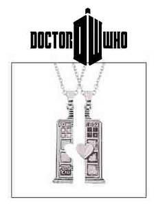Парный кулон Тардис Кулон Doctor Who для двоих