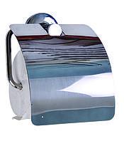 Туалетный бумагодержатель с крышкой Нержавеющая сталь