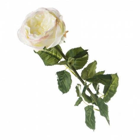 Искусственная белая роза., фото 2
