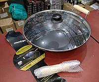 Глубокая тефлоновая сковорода с крышкой ВОК (WOK) EDENBERG EB-3343 (35 см, 5.6 л)