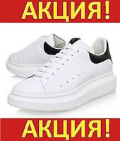 Кроссовки, кеды женские Alexander McQueen White/Black  - Александр Маккуин