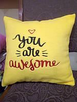 Подарункові подушки з мотивуючими фразами