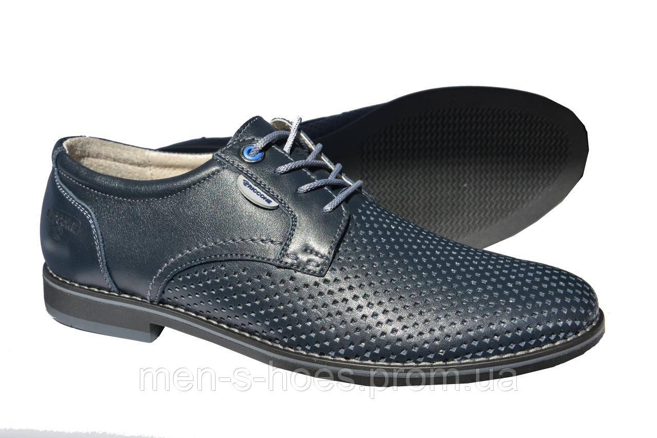 Мужские  туфли летние Riccone Blue