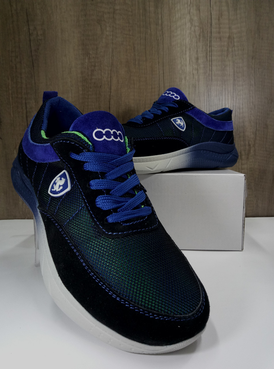 Летние подростковые кроссовки,синие EXTREM  С-038