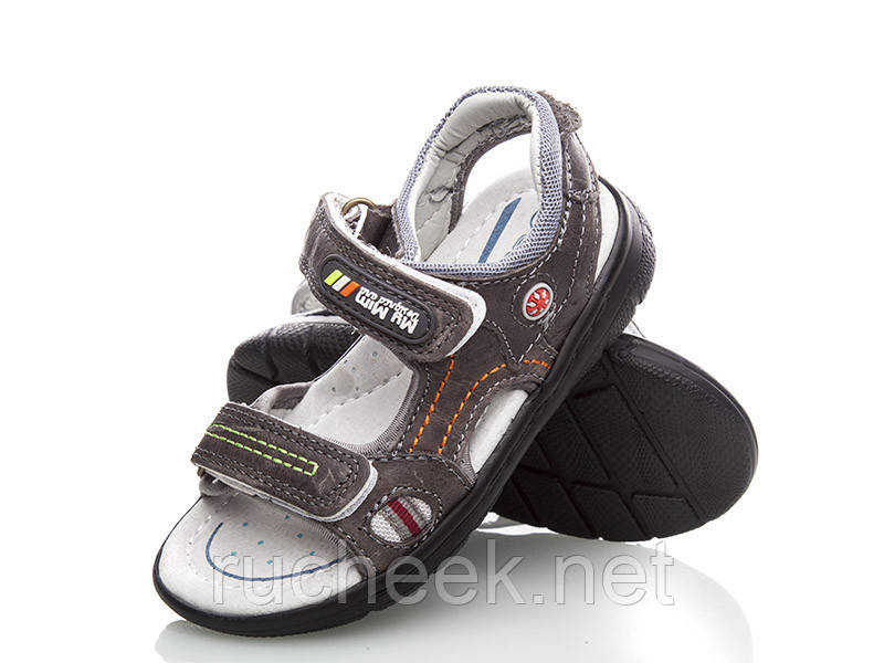 Открытые кожаные босоножки сандали для мальчиков, р-ры 28, 29, ТМ EEBB 9068