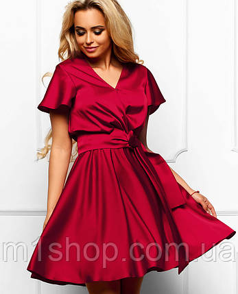 b1750254e15 Женское летнее атласное платье (Синди jd) купить недорого Украина ...