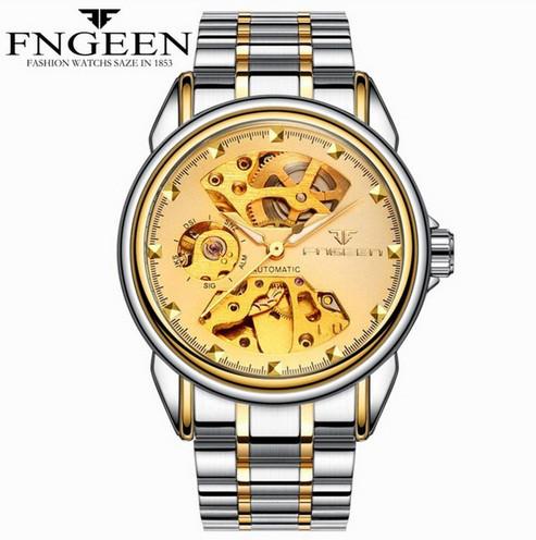 Мужские часы Fngeen Механические с автоподзаводом, водонепроницаемые.