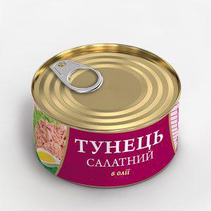 Консерва Fish Line 185г Тунець салатний в олії