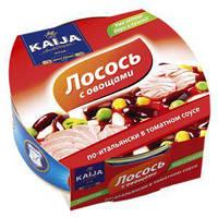 Консерва Kaija 220г Лосось з овочами по-італійськи в томатному соусі