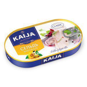 Консерва Kaija 170г Оселедець філе в олії