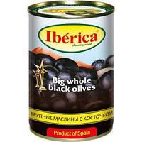 Маслини Iberica 300г міні чорні з/к