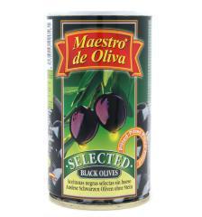 Маслини Maestro de oliva 360г великі ексклюзив чорні б/к