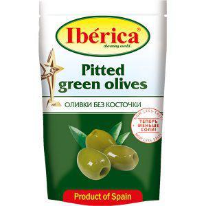 Оливки Iberica 170г зелені б/к пакет