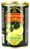 Оливки Maestro de oliva 300г зелені з лимоном