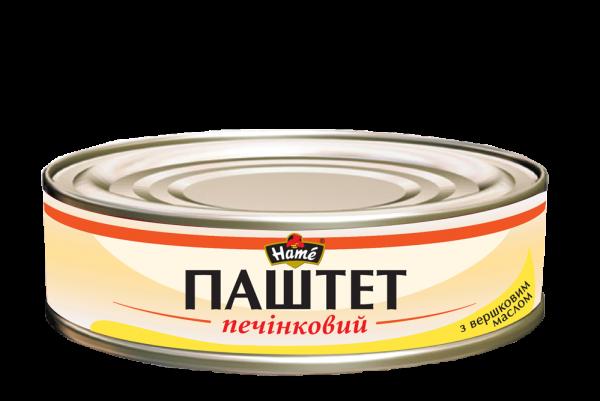 Паштет НАМЕ 240г печінковий з вершковим маслом ж/б
