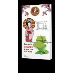 Шоколад Shoude 90г зелений Чай з імбиром