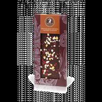 Шоколад Shoude 100г чорний з цукатами та малиною