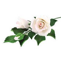 Декор кондитерський Добрик Гілка троянди біла