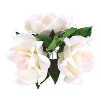 Декор кондитерський Добрик Набір Букет троянд білі 36 шт./ящ.
