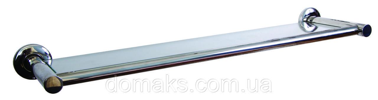 Стеклянная полочка в ванную на 60 см Нержавеющая сталь