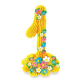 Декор кондитерський Добрик Цифра жовта №1 24 шт./ящ. (асорті)