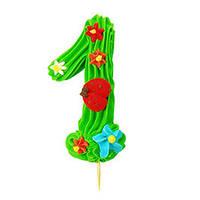 Декор кондитерський Добрик Цифра червона №1 24 шт./ящ. (асорті)