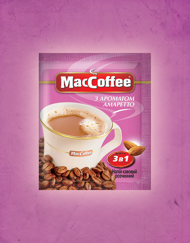 Кава MacCoffee 3в1 20шт*18г Амаретто