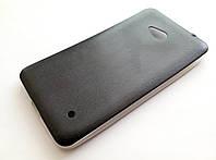 Чехол силиконовый под кожу для Microsoft lumia 640 black