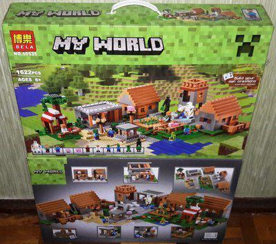 Конструктор Bela 10531 Майнкрафт Minecraft Деревня 1622 дет