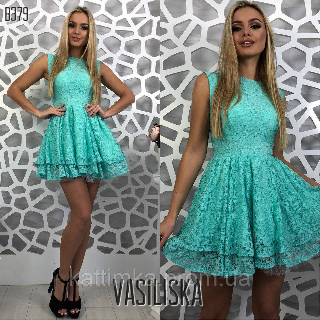 53e4e586b6d Вечернее гипюровое женское платье - Интернет-магазин