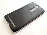 Чехол силиконовый под кожу для Asus Zenfone 2 ZE551ML черный