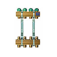 Коллектор для теплого пола KAN на 4 выхода без расходомеров (серия 71A)