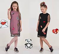Платье для девочки, стильное, модное, нарядное, рост от 116 до 134