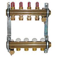 Коллектор для теплого пола Herz с расходомерами G 3/4 на 10 контуров
