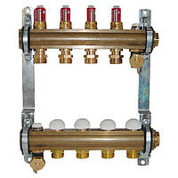 Коллектор для теплого пола Herz с расходомерами G 3/4 на 16 контуров