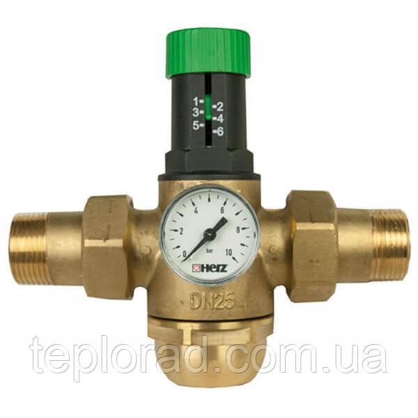 """Регулятор давления воды мембранный Herz DN25 1"""" для горячей воды (1268223)"""