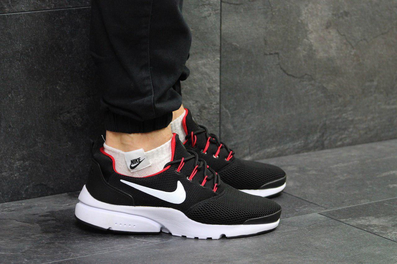 4c42fd38b7135 Кроссовки мужские черно-белые с красным Nike Air Presto Fly Uncaged 5124
