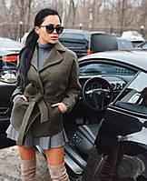 """Женское модное кашемировое пальто с поясом """"Неаполь"""""""
