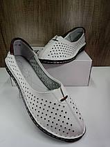 Летние женские туфли ALLSHOES 77937-11бел, фото 3