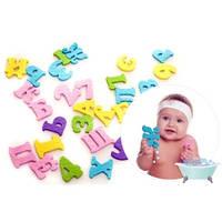Набор игрушек  для купания, в виде букв и цифр, Kinderenok АБВ