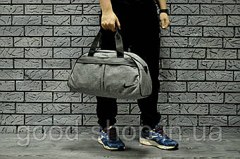Спортивная сумка Nike серого цвета  (люкс копия)