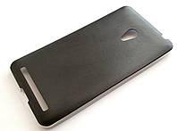 Чехол силиконовый под кожу для Asus Zenfone 6 a600cg / a601cg черный