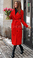 """Женское стильное кашемировое пальто с поясом """"Rich"""""""