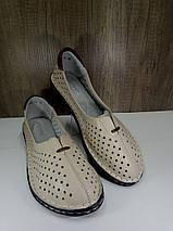 Летние женские туфли ALLSHOES 77937-11беж, фото 3