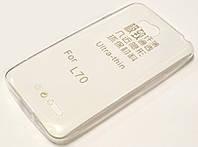 Чехол силиконовый ультратонкий для LG L65 / L70 d280, d285 / d320n, d325