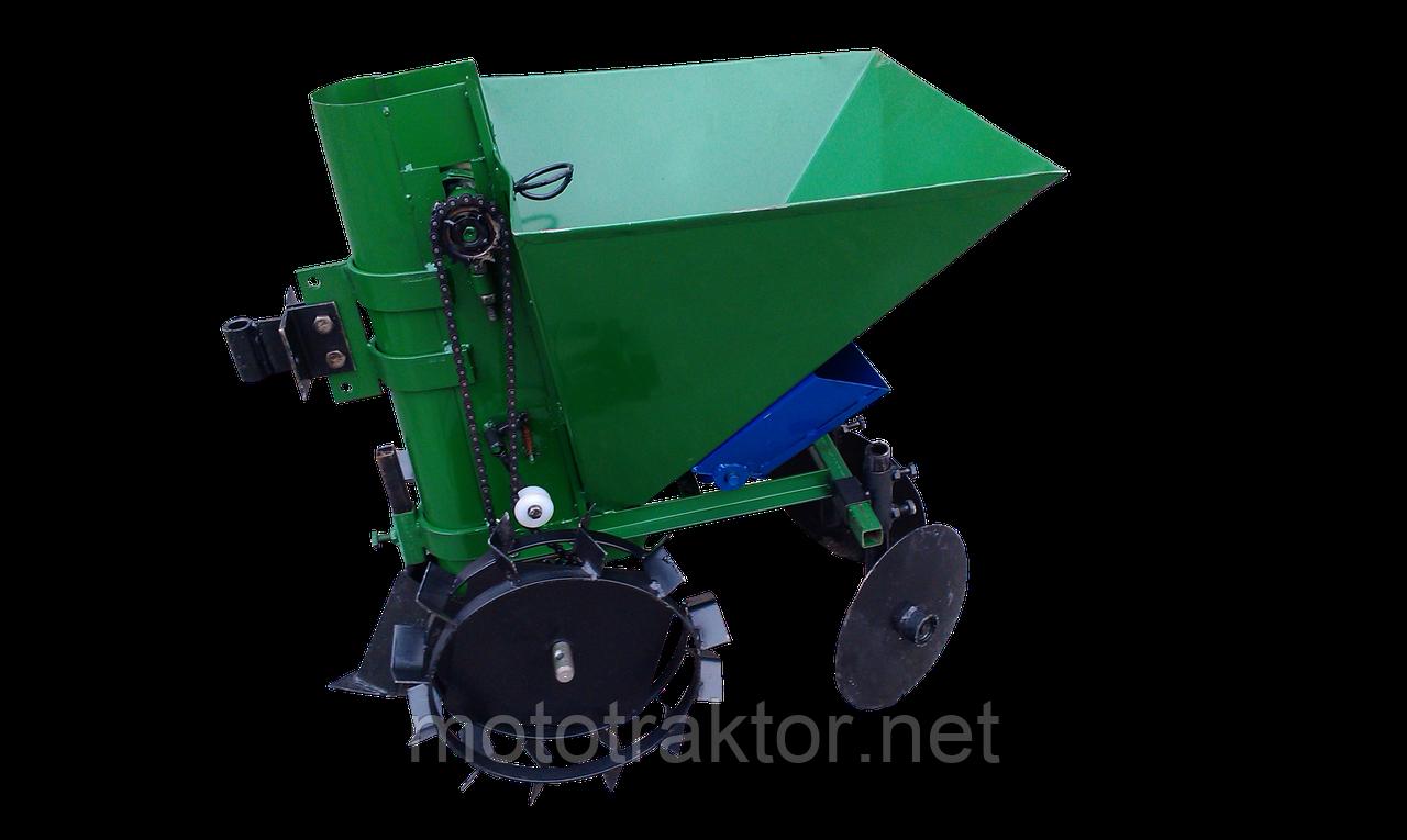 Картофелесажалка для мотоблока П-1ЦУ (зеленая)