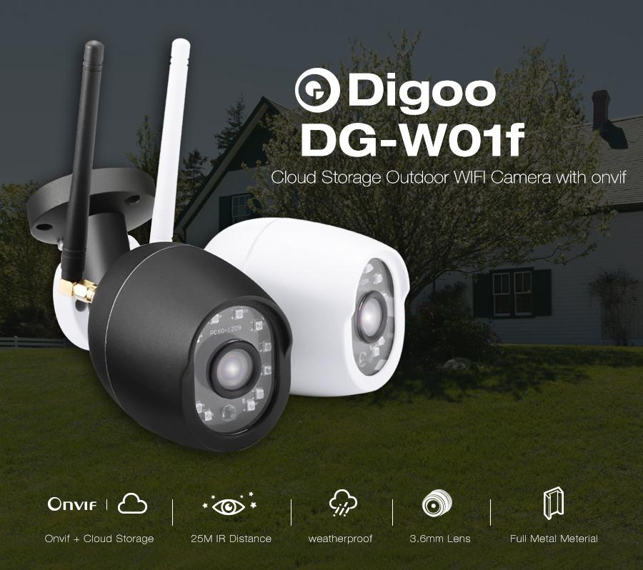 Digoo Digoo DG-W01f наружная водозащищенная Wifi IP камера с режимом ночного видения и поддержкой карт памяти.