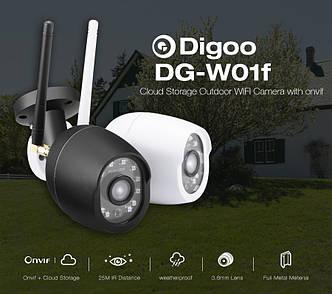 Digoo Digoo DG-W01f зовнішня водозахищена Wifi IP камера з режимом нічного бачення і підтримкою карт пам'яті.
