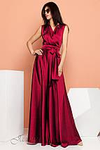 Женское шелковое платье в пол без рукавов (Фурор jd), фото 3